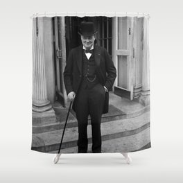 Winston Churchill At White House - 1929 Shower Curtain