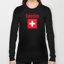 Sweden - Swiss Flag Long Sleeve T-shirt