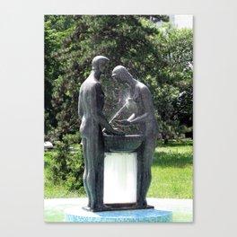 Belgrade / Bizarre Fountain Canvas Print