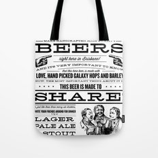 Billy & Bones Hand Crafted Beer Tote Bag