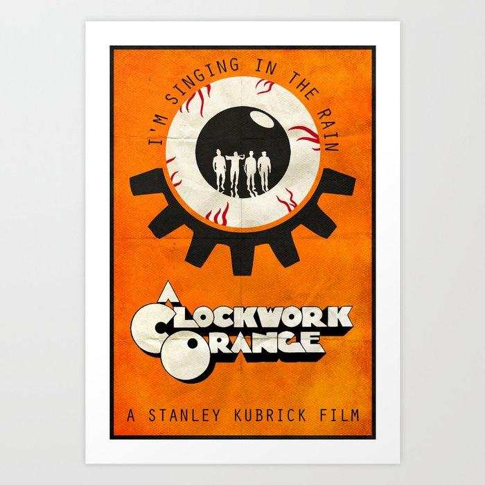 Singin In The Rain A Clockwork Orange Poster Art Print By Edwardjmoranii