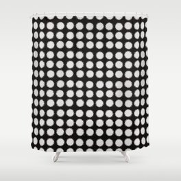 Milk Glass Polka Dots Black And White Shower Curtain