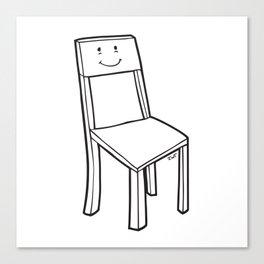 chair boy Canvas Print
