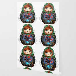 Portuguese Matryoshka Wallpaper
