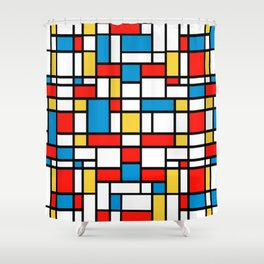 Mondrian design, abstract pattern Shower Curtain