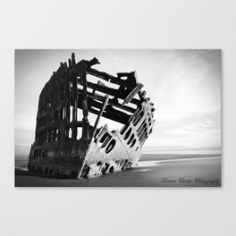 Peter Iredale Black and White Canvas Print