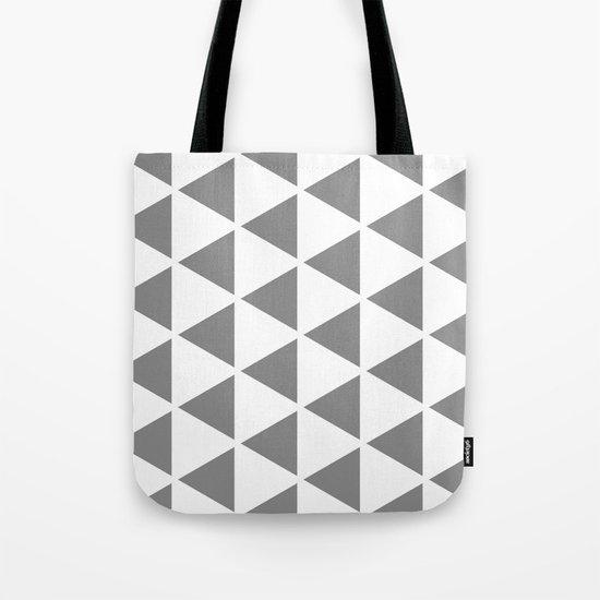 Sleyer Grey on White Pattern Tote Bag