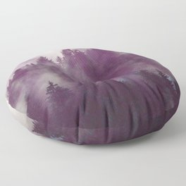 Clear life's mist to see beauty. Purple Floor Pillow