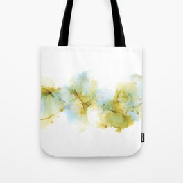 Alcohol Ink Abstract Landscape - Earth, Sky, Water Tote Bag