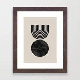 Woodblock Print, Modern Art Framed Art Print