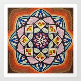 Fulfillment Mandala - מנדלה הגשמה Art Print