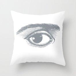 I see you. Gray on White Throw Pillow