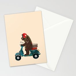 scooter bear Stationery Cards