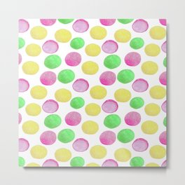 Mochi ice cream pattern // Japanese mochi dessert Metal Print