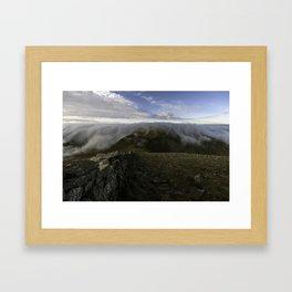 Slieve Donard mountain view Framed Art Print