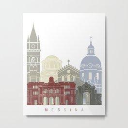 Messina skyline poster Metal Print
