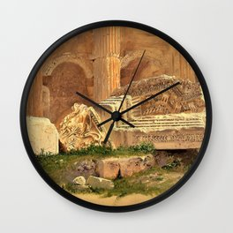 Frederic Edwin Church - Interior Of The Temple Of Bacchus, Baalbek - Digital Remastered Edition Wall Clock