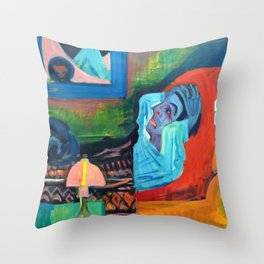 Patient in the Night, The Patient - Ernst Ludwig Kirchner Throw Pillow