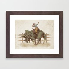 Dino Rodeo  Framed Art Print