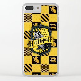 POTTER HUFFLEPUFF Clear iPhone Case