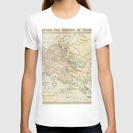 Old Map of Europe under the Empire of Charlemagne T-shirt