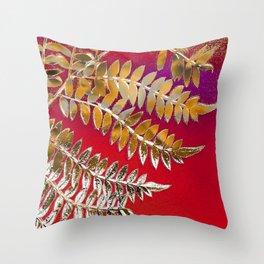 Crimson Daydream Throw Pillow