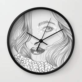 cold autumn Wall Clock