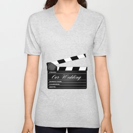 Our Wedding Clapperboard Unisex V-Neck