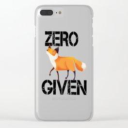 Zero Fox! Clear iPhone Case