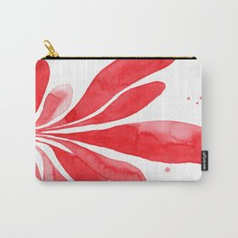 Underwater Botanical Red no. 1 Carry-All Pouch