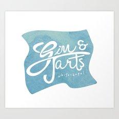 Gin & Tarts Art Print