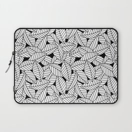 Leaves in Black Laptop Sleeve