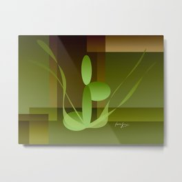 Woman on Peace with Nature Metal Print