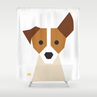 jack russell Shower Curtains featuring Jack Russell by Page 84 Design