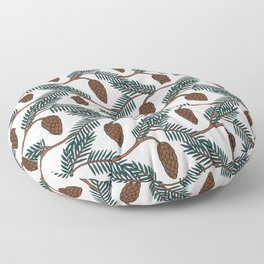 Pine Cone | Pine Tree Pattern | Forest Pattern Floor Pillow