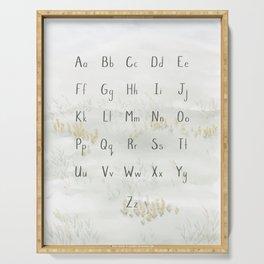 A Quiet Meadow Printed Alphabet Serving Tray