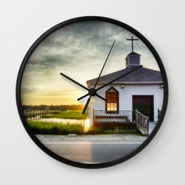 One Eye Closed Wall Clock