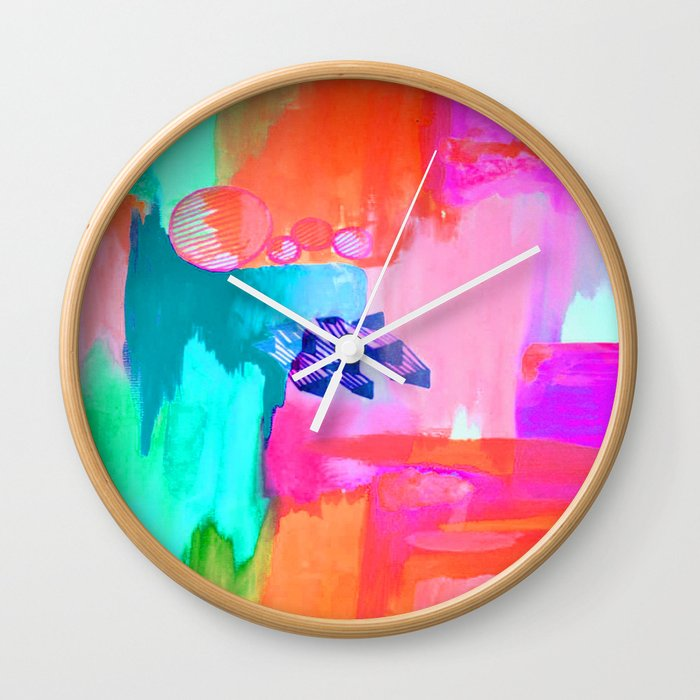 POP ART Wall Clock by artworksbylarajohnson