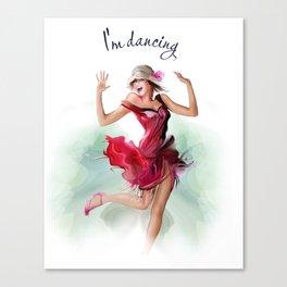 dancing ballerina3 Canvas Print