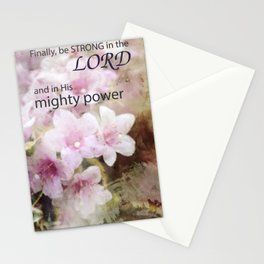 Be Strong in the Lord Stationery Cards