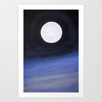 lunar Art Prints featuring Lunar by Derek Bryan