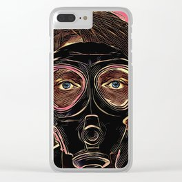 INFERNO MASK DOWNFALL Clear iPhone Case