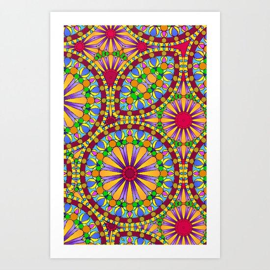 Mille Fleur Art Print