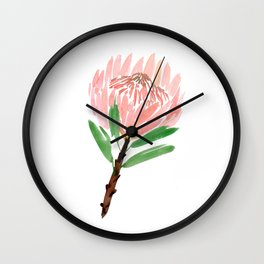 King Protea in Blush Pink Wall Clock