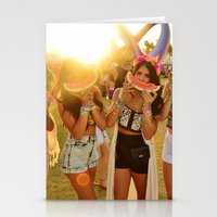 coachella Stationery Cards featuring Coachella Festival by Cactus And Fog