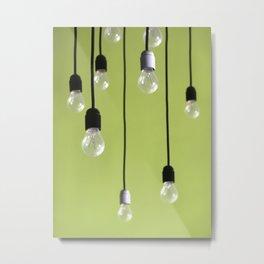 Hanged Lamps Metal Print