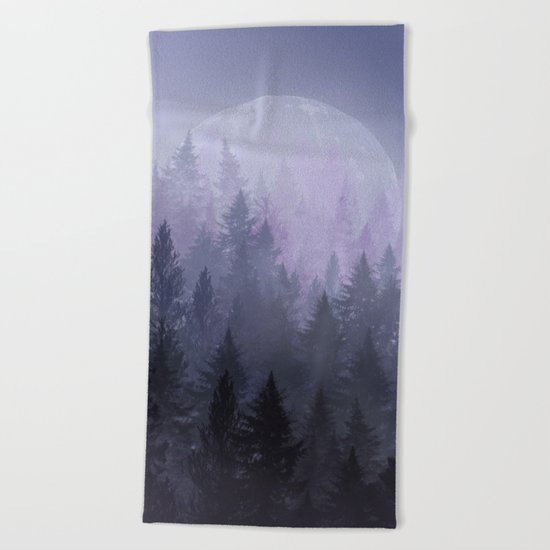 fantasy forest 2 Beach Towel