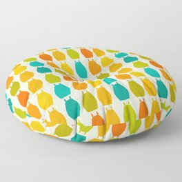 my neighbor pattern Floor Pillow