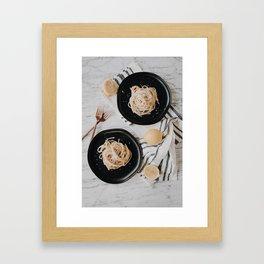 Summery Lemon Pasta // Cacio e Pepe Framed Art Print