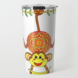 MONKEY MANDALA CHILDREN Travel Mug